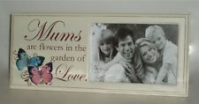 Mum's Flowers TableTop Message Photo Frame Mummy/Mother Mothers Day Gift Wood