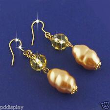 14k Gold plated enamel dangle earrings