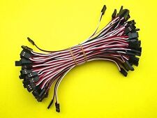 100x 20cm Male to Male JR Plug Servo Extension Lead wire Cable For RC Quadcopter
