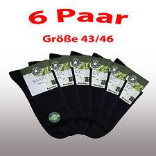 3 %7c 6 %7c 12 %7c 24 Paar Kurzschaft  BAMBUS  Socken schwarz Gr. 43 44 45 46 TOP*****