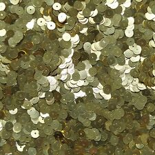 6mm Flat Loose Sequin Paillette Semi Matte Gold Made in USA