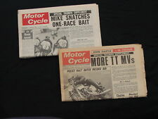 VINTAGE BRITISH MOTORCYCLE NEWS 1967 and UP. READ, HAILWOOD , BICKERS, HALLMAN !