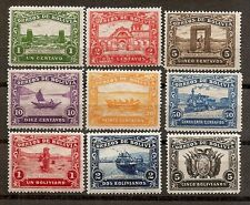 Bolivia - Guiqui to La Paz Railroad - set of nine un-issued stamps from 1915