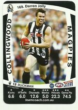 2011 AFL TEAMCOACH COLLINGWOOD MAGPIES DARREN JOLLY 169 COMMON CARD free post