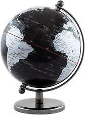 BRUBAKER Political World Globe - Office Decoration - 7.5 inches tall - Black