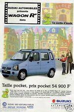 Publicité Advertising 1998 Suzuki Wagon R