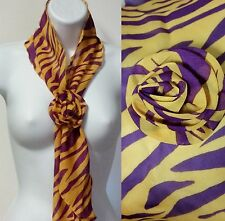 WOLESALE LOT of 10 Clip Scarves,  Purple and Gold and Tiger Stripes