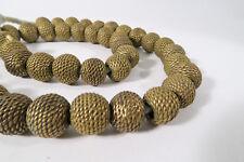 Entstehungszeit Nach 1945 6stk.herrlich Verzierte Afrikanische Ashanti Bronzeperlen M.rankendesign-ca.12mm Perlen, Schmucksteine &-kugeln