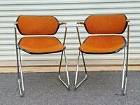 (2) Acton Stacker MCM Atomic Orange CHROME - Set of Two (Pair)
