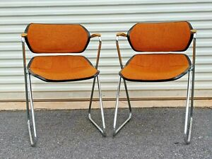 Acton Stacker MCM Atomic Orange CHROME - Set of Two (Pair)