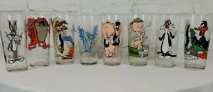 VTG Pepsi Collector Series 1973 1976 Glasses Warner Brothers Looney Tunes Lot 8