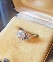 Lieblingsstück⚘! Art Decó-Ring antik 585/14K 0,8kt Aquamarin/Diamanten