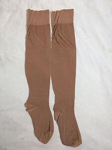 Stockings Beige Brown Size B Vintage RHT Lycra 9.5 10 Support 1960s New original