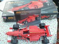 RARE BUILT MEGA BLOKS MEGA MODELZ - RACE CAR. 490 PCS, 9751