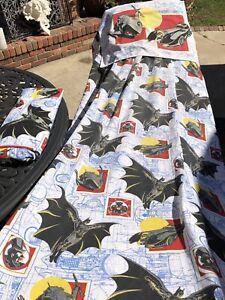 Vtg DC Comics 1992 Batman Returns Twin Fitted ,Flat & pillow case Sheet Set