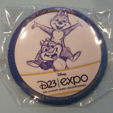 NEW DiSNEY D23 EXPO PiN PiNBACK FEATURING CHiP & DALE CHIPMUNKS 2009 FREE SHiP