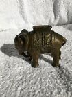Antique Cast Iron Elephant Bank by AC Williams
