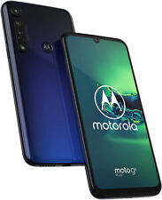"New Motorola Moto G8 Plus Blue 6.3"" 64GB Dual SIM Andriod 9 Unlocked Sim Free"