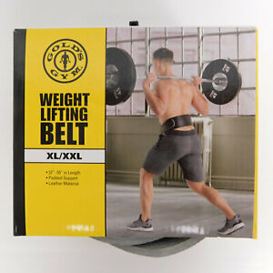"""Gold's Gym Weight Lifting Belt Size XL/XXL. 37""""-55"""" in Length Black Padded"""