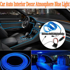 2M Blue LED Car Interior Decor Atmosphere Wire Strip Light Lamp Car Accessories