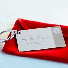 Starbucks 2014 Limited Edition .925 Sterling Silver Keychain Gift Card - $0 Bal