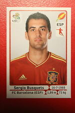 Panini EURO 2012 N. 295 ESPANA BUSQUETS  NEW With BLACK BACK TOPMINT!!