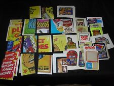 Lot of 20  trading cards Wacky Packages etc.