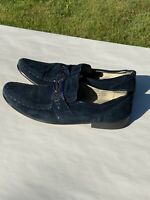 Fratelli Footwear Mens Size 11 Oxford Blue Suede Loafers