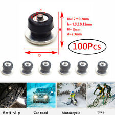 100 Pcs Aluminum Car Motorcycle Tires Studs Spikes 12x8mm Snow Chains Anti-Slip