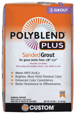 Custom Building Products PolyBlend Plus Sanded Grout 25 lbs