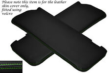 GREEN STITCH 2X SUN VISORS LEATHER COVERS FITS MERCEDES W108 STACKLIGHT 65-72