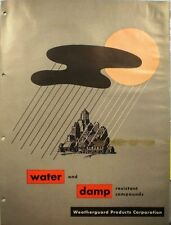 1962 WEATHERGUARD Products Catalog ASBESTOS Fabroid Mastic Coating Alumaguard