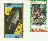 2 Kleine Blocks Raumfahrt Oman gestempelt 370