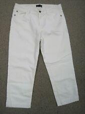 fe29a1b234154 Dana Buchman White Denim Capris Cropped Pants Ladies Size 8