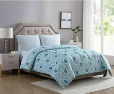 "4 Pc Ellison ""WESTPORT Teal"" 2-Looks Bed-In-A-Bag ~ Twin 66 W x 86 L **NEW**"