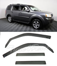 For 2009-15 Honda Pilot Window Rain Guard Deflectors IN-CHANNEL Visors JDM