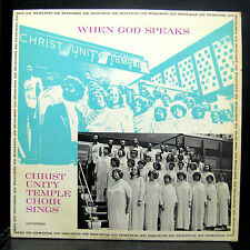 The Christ Unity Temple Choir When God Speaks LP VG Private Chicago Gosple Soul