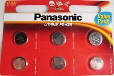6 Panasonic 3V Lithium Power CR2032 Coin Cell Batteries Multipurpose New