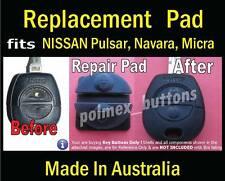fits Nissan Pulsar Patrol Micra remote key - Repair Silicone key Pads (2 sets)