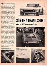 1964 CHEVROLET CORVETTE GRAND SPORT ~ ORIGINAL ARTICLE / AD
