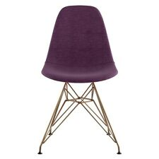 Nye Koncept Mid Century Eiffel Side Chair, Plum Purple - 331005EM2