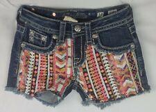 Miss Me Short Low Rise Stretch Buckle Girls Denim Shorts 10 x 3 JK6364H