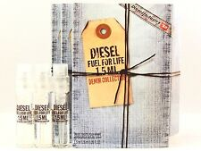DIESEL FUEL FOR LIFE DENIM COLLECTION FOR MEN 1.5ml .05oz x 3 COLOGNE SAMPLES