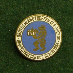 DDR, Deutschlandtreffen der Jugend 1964 Berlin Abzeichen