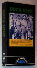 DUCK SOUP VHS 1933 B&W Marx Brothers Comedy Groucho Chico Harpo FREEDONIA RULES!