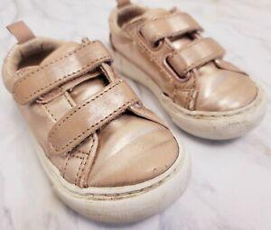 BABY GAP Kids Rose Gold Sneakers Size 6 Toddler Girl