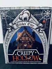 Creepy Hollow Witches' Cove Halloween Village Lighted Porcelain House 2001