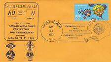 (03116) USA copertura LEONI CALCIO INTERNAZIONALE wilkes-barre PA 21 maggio 1983