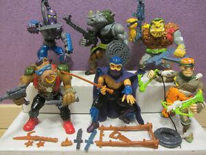 1988 BEBOP ROCKSTEADY SHREDDER FOOT SOLDIER Ninja Turtles Figuren
