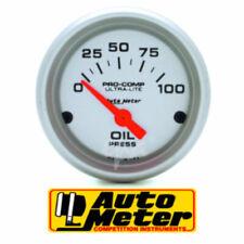 "Auto Meter Ultra-Lite Series Oil Pressure Gauge 2-1/16"" Electric 0-100 psi"